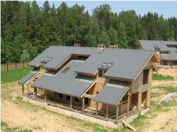 Крыша из асбестоцементного листа